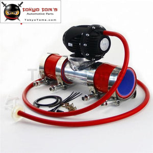 51Mm 2 Flange Pipe + Clamps Silicone Hose Kit+ Sqv Blow Off Valve Bov Iv 4 Blue / Black Red
