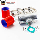 51Mm 2 Type-S/rs/rz Turbo Bov Flange Adapter Pipe + Silicone Hose Clamps Kit Red / Blue Black
