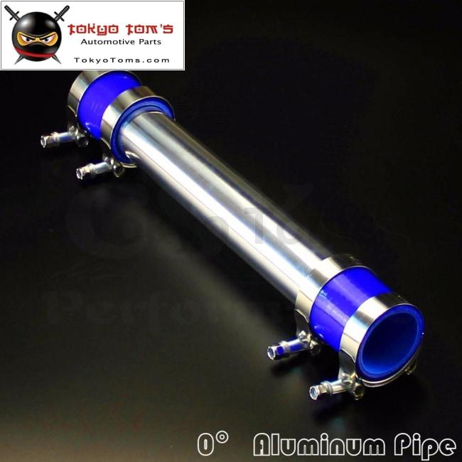 """SS Clamps BLUE 2x 2.25/"""" Universal 90 Degree Elbow Silicone Hose Turbo Pipe"""