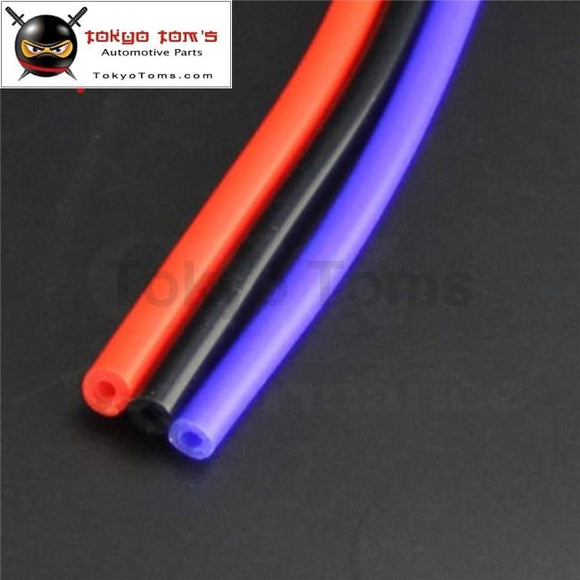 5Mm Id Silicone Vacuum Tube Hose 5 Meter / 16Ft Length - Blue Black Red