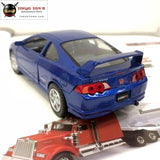 5Pcs/lot Wholesale Yj 1/34 Scale Car Model Toys Honda Integratype-R Diecast Metal Pull Back Toy