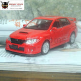 5Pcs/pack Wholesale Uni 1/36 Scale Pull Back Car Toys Japan Subaru Sti Diecast Metal Model Toy Red