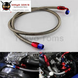 63 8An N/s Nylon Steel Braided Oil Cooler Filter Hose Fuel Line + Fittings Black / Silver