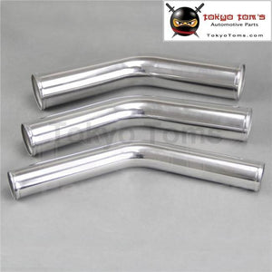 63Mm 2.5 2-1/2 Inch 45 Degree Aluminum Turbo Intercooler Pipe Piping Tubing Length 300Mm