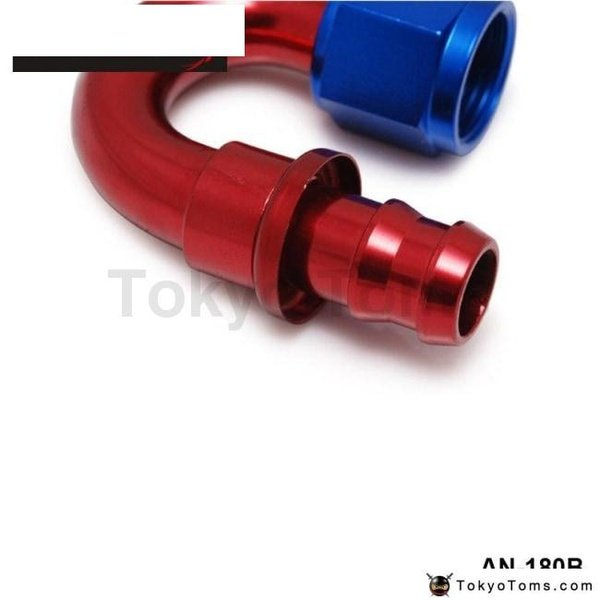 6AN AN6 6-AN STRAIGHT SWIVEL OIL//FUEL//GAS LINE HOSE END PUSH-ON MALE FITTING AN6