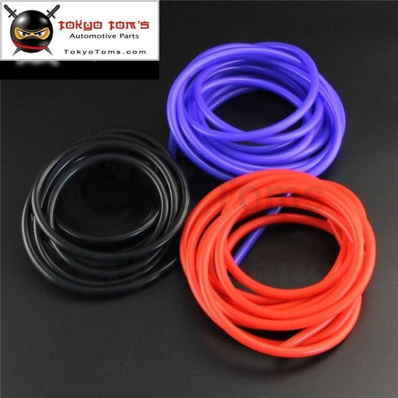 6Mm Id Silicone Vacuum Tube Hose 5 Meter / 16Ft Length - Blue Black Red