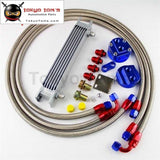 7 Row 248Mm An8 Universal Engine Transmission Oil Cooler British Type + Filter Adapter Kit