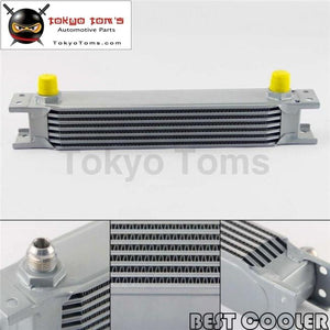 7 Row 8An Universal Engine Transmission Oil Cooler 3/4Unf16 An-8 Silver