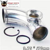 70Mm 2.75 90 Degree Ssqv Sqv Blow Off Valve Adapter Bov Turbo Intercooler Pipe Aluminum Piping