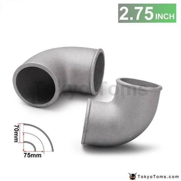 70Mm 2.75 Cast Aluminium Elbow Pipe 90 Degree Intercooler Turbo Tight Bend For Bmw E30 M20 325 325I