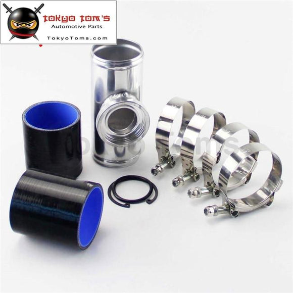 70Mm 2.75 Turbo Aluminum Flange Pipe+Silicone Hose Clamps For Ssqv Bov Black /blue / Red Piping