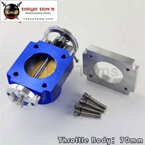 70Mm High Flow Alloy Aluminum Universal Cnc Billet Intake Throttle Body Blue