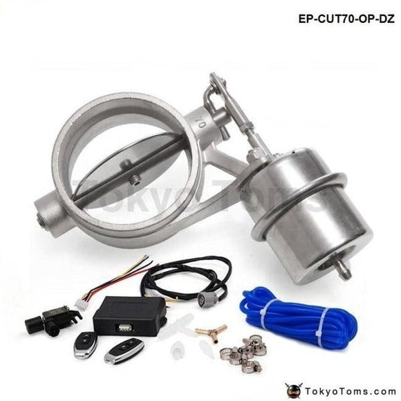 70Mm Open Style Vacuum Exhaust Cutout Valve With Wireless Remote Controller Set For Bmw E39 Android