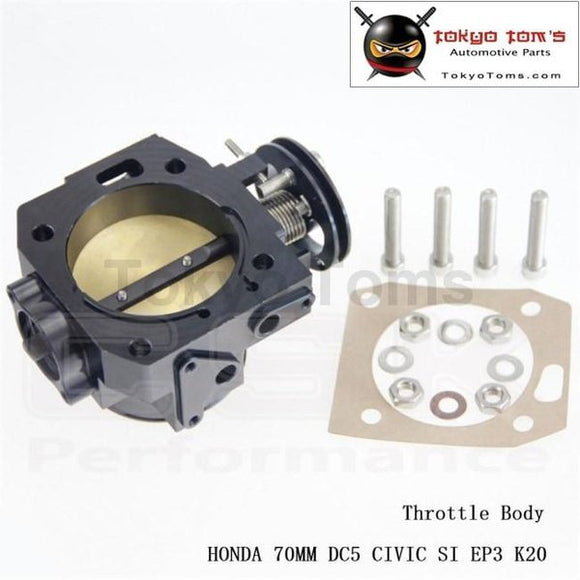 70Mm Throttle Body For Honda K-Series/ K20 /civic/ Ep3/ Type R/integra Dc5 Black