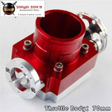 70Mm Throttle Body Performance Intake Manifold Billet Aluminum High Flow Red
