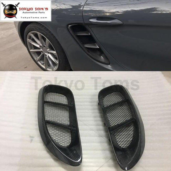 718 Carbon Fiber Side Air Inlet Vents For Porsche Boxster Cayman 2015