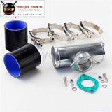 76Mm 3 Type-S/rs/rz Turbo Bov Flange Adapter Pipe + Silicone Hose Clamps Kit Red / Blue Black