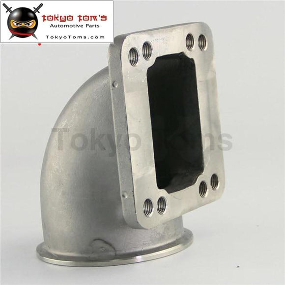 76Mm 3 Vband 90 Degree Stainess Ss Cast Turbo Elbow Adapter Flange For T3 T4 Turbocharger Aluminum