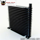 8-An 32Mm 17 Row Engine/transmission Racing Coated Aluminum Oil Cooler Black Oil Cooler