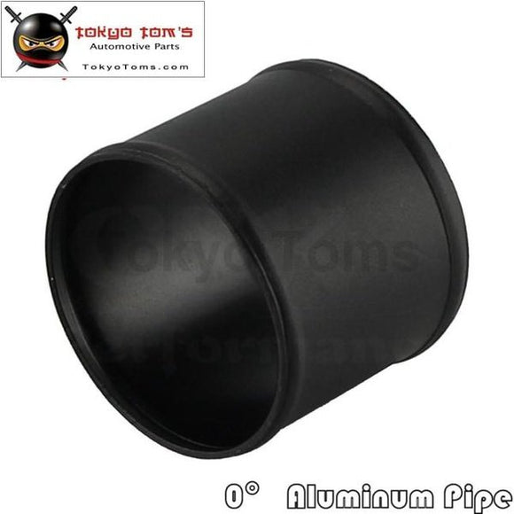 80Mm 3.15 Inch Aluminum Hose Adapter Tube Joiner Pipe Coupler Connector Black Piping