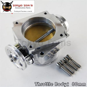 80Mm Alloy Aluminum Universal Throttle Body Cnc Billet Intake Manifold High Flow