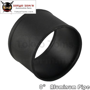 89Mm 3.5 Inch Aluminum Hose Adapter Tube Joiner Pipe Coupler Connector Black Piping