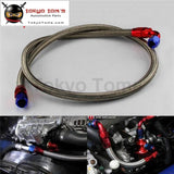 8An Oil Cooler Stainless Steel Braided Fuel Line Hose Fitting End Adapter Black / Silver