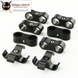 8Pcs An -6 An6 13.4Mm Braided Hose Separator Clamp Fitting Adapter Bracket Silver / Black Blue
