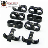 8Pcs An -8 An8 15.4Mm Braided Hose Separator Clamp Fitting Adapter Bracket Black / Blue