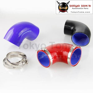 90 Degree 2.75 Inch Racing Silicone Hose Elbow Coupler Intercooler Turbo Hose 70Mm+Clamps