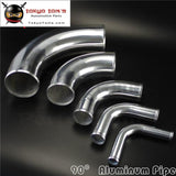 90 Degree 57Mm 2.25 Inch Aluminum Intercooler Intake Pipe Piping Tube Hose