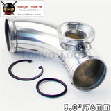 90 Degree 60Mm 2.36 Turbo Aluminum Flange Pipe For Ssqv/sqv Bov Blow Off Valve Piping