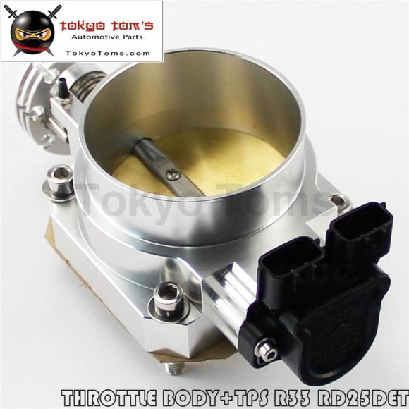 90Mm-80Mm Q45 Throttle Body + Tps For Nissan Skyline R33 S2 Series 2 Rb25Det Black / Blue /silver