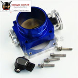 90Mm Reverse Throttle Body With Tps Sensor Fit For Toyota Supra 1Jz / 2Jz Blue /silver Black