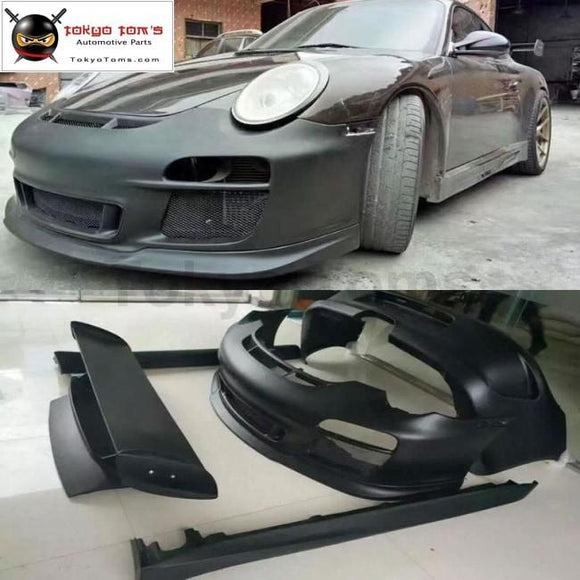911 997.2 Gt3 Style Front Bumper Rear Side Skirts Spoiler For Porsche Carrera Style Car Body Kit