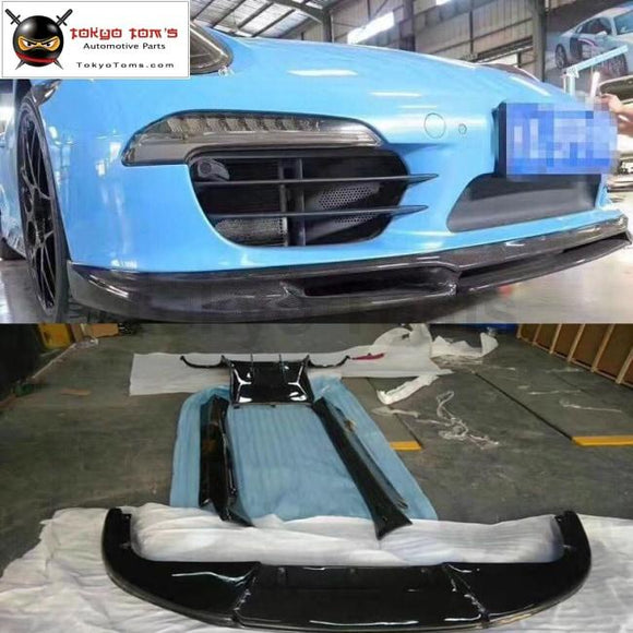 911 Carbon Fiber Front Lip Rear Diffuser Side Skirts Spoiler For Porsche Carrera 991 Gt3 Vorsteiner