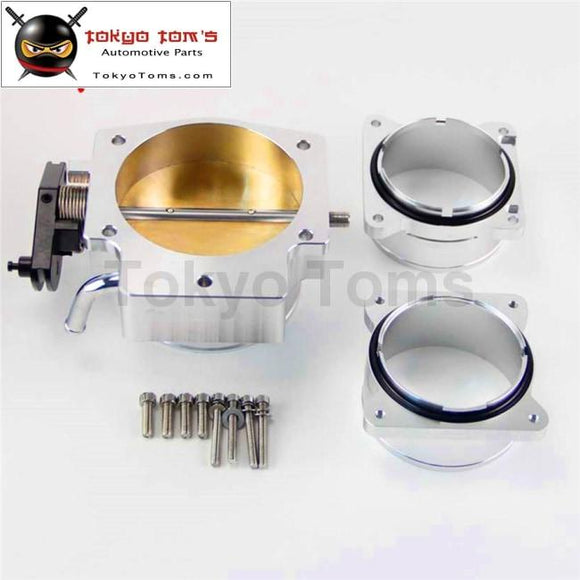 92Mm Throttle Body+ Mass Air Flow Sensor Maf End Intake Adapter For Chevy Ls1