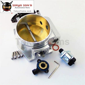 92Mm Throttle Body + Tps Iac Throttle Position Sensor For Lsx Ls Ls1 Ls2 Ls6