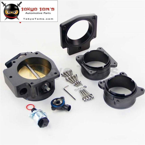 92Mm Throttle Body/ Tps + Intake Plate+ Maf Ends For G M Chevy Ls1 Lt4 Lt1 Black