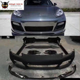 970 Carbon Fiber Frp Car Body Kit Front Bumper Lip Rear Diffuser Side Skirts Spoiler For Porsche