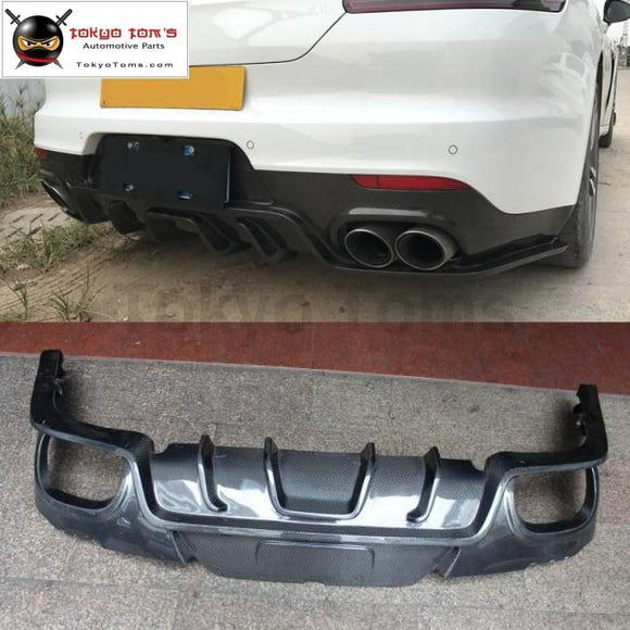 970 Carbon Fiber Rear Bumper Diffuser Lip For Porsche Panamera 09-15