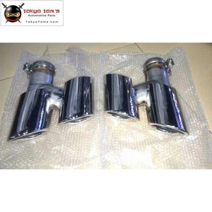 970 Stainless Steel Muffler Exhaust Pipes End Tips Tail Throat For Porsche Panamera 4S Turbo Gts