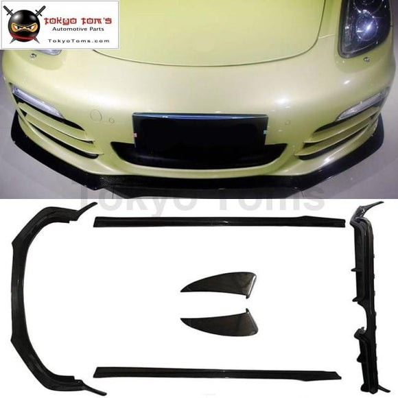 981 Carbon Fiber Front Lip Rear Diffuser Side Skirts Side Air Inlet For Porsche Boxster 12-14