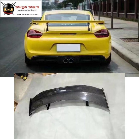 981 Gt4 Carbon Fiber Rear Spoiler Frp Unpainted Wings For Porsche Cayman Style
