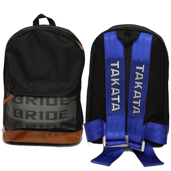 BRIDE Style - Brown Leather - Blue Takata Strap Backpack