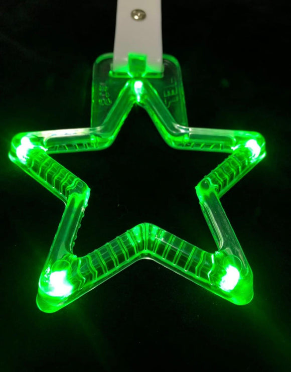 LED Hang Rings by Tokyo Toms - Green Star