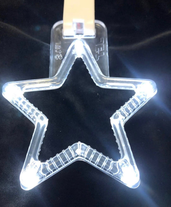 LED Hang Rings by Tokyo Toms - White Star
