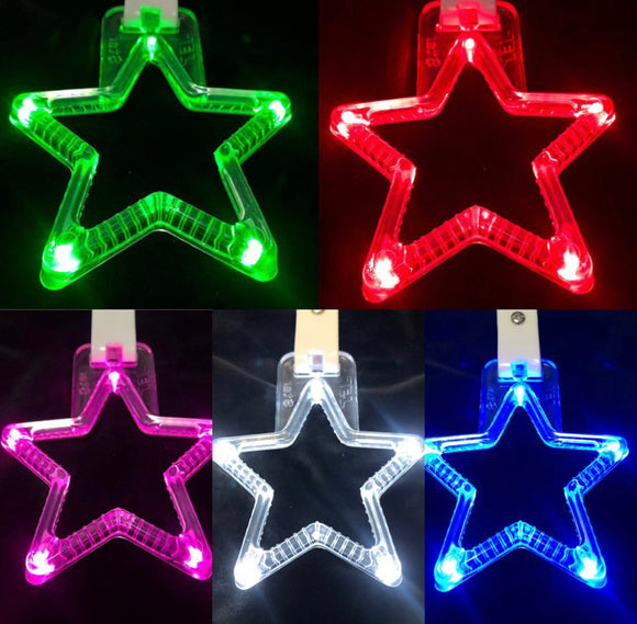 LED Hang Rings by Tokyo Toms - Purple Star