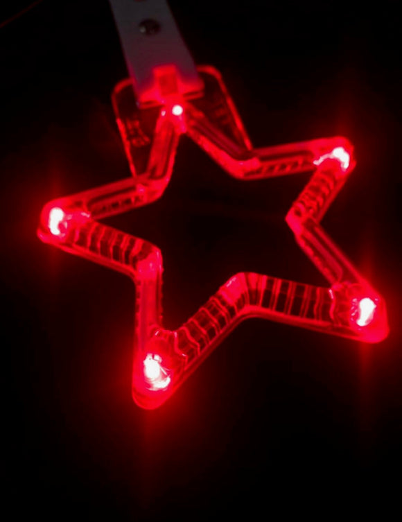 LED Hang Rings by Tokyo Toms - Red Star