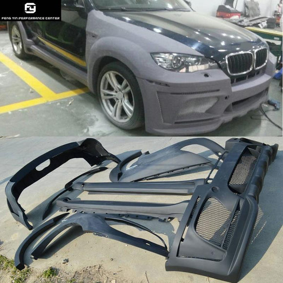 X5 E70 HM Style FRP Unpainted Car Body kit front bumper rear bumper side skirts fenders Wheel eyebrow For BMW E70 X5 08-13